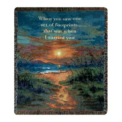 I Carried You Tapestry Cotton Throw
