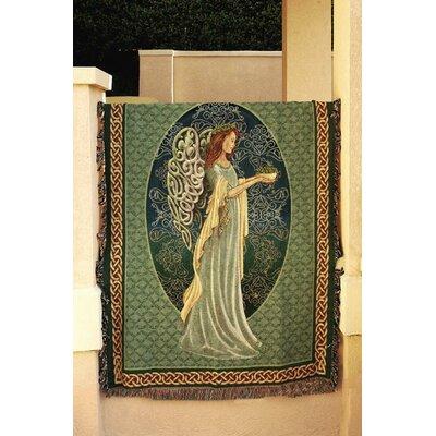 Irish Angel Tapestry Cotton Throw Blanket