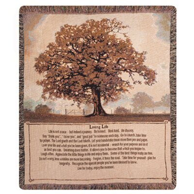 Living Life Tapestry Cotton Throw