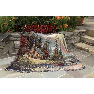 Peaceful Retreat Tapestry Cotton Throw