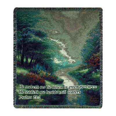 Petals of Hope Verse Tapestry Cotton Throw