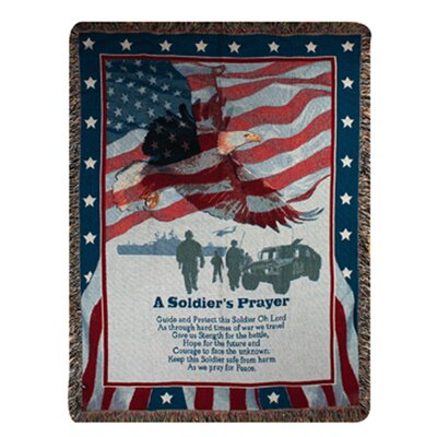 Soldiers Prayer Tapestry Cotton Throw
