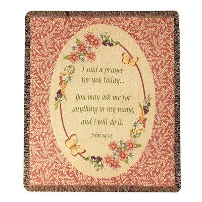 Todays Prayer Tapestry Cotton Throw