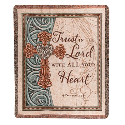 Trust in the Lord Tapestry Cotton Throw