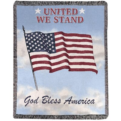 United We Stand Tapestry Cotton Throw