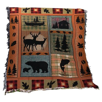 Bear Lodge Tapestry Cotton Throw