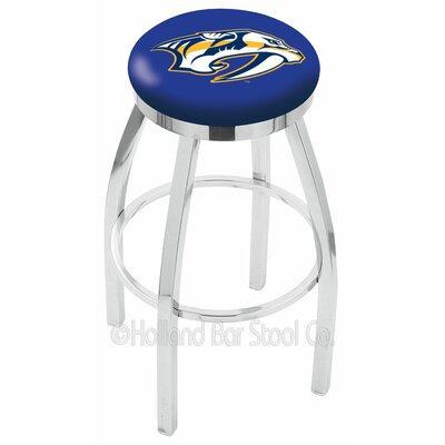 NHL 36 inch Swivel Bar Stool NHL Team: Nashville Predators