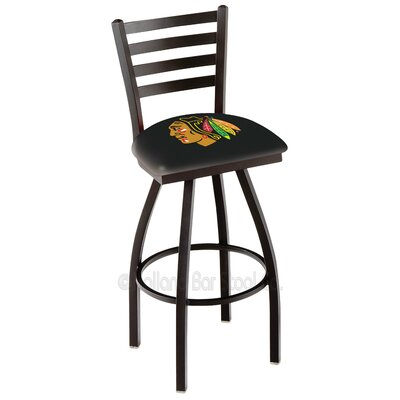 NHL 36 Swivel Bar Stool NHL Team: Chicago Blackhawks - Black