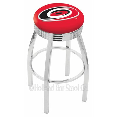 NHL 30 inch Swivel Bar Stool NHL Team: Carolina Hurricanes