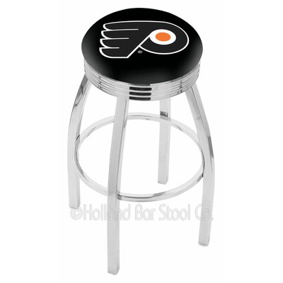 Philadelphia Flyers Bar Stool W/black Background-l8c3c - L8c3c25phifly-b - Chairs Table Nhl L8C3C25PHIFLY-B