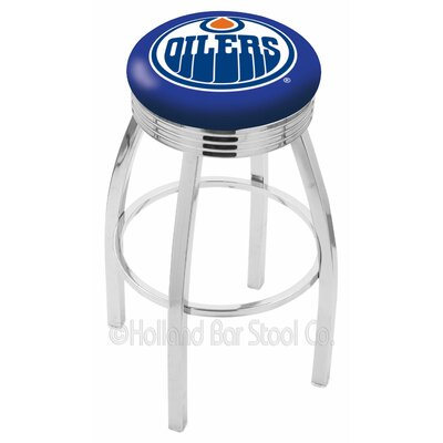 NHL 25 Swivel Bar Stool NHL Team: Edmonton Oilers