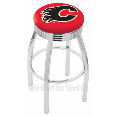 NHL 30 Swivel Bar Stool NHL Team: Calgary Flames