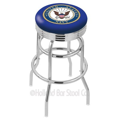 US Armed Forces 30 Swivel Bar Stool Branch: Navy