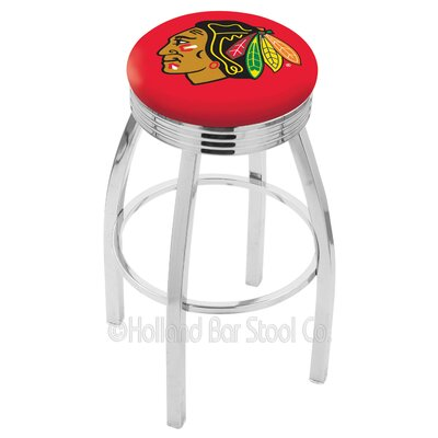 "NHL 30"" Swivel Bar Stool NHL Team: Chicago Blackhawks - Red L8C3C30ChiHwk-R"