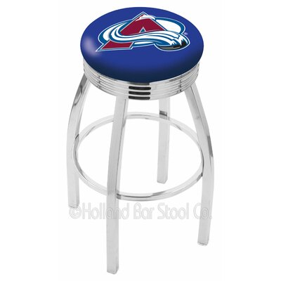 NHL 25 Swivel Bar Stool NHL Team: Colorado Avalanche