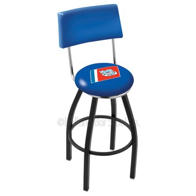 US Armed Forces 25 Swivel Bar Stool Branch: Coast Guard, Base Color: Black Wrinkle
