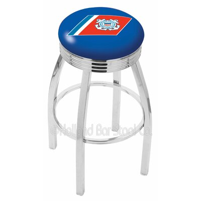 US Armed Forces 30 Swivel Bar Stool Branch: Coast Guard