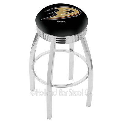 NHL 30 inch Swivel Bar Stool NHL Team: Anaheim Ducks