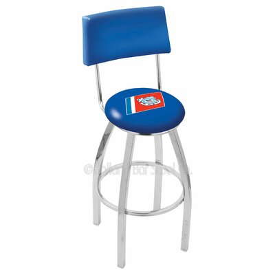 US Armed Forces 25 Swivel Bar Stool Branch: Coast Guard, Base Color: Chrome