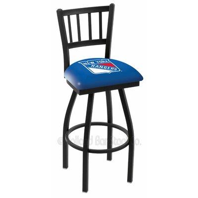 NHL 36 inch Swivel Bar Stool NHL Team: New York Rangers