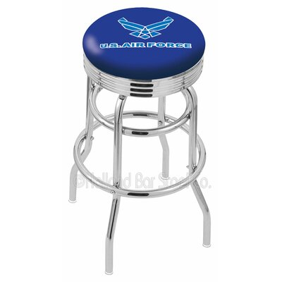 US Armed Forces 25 Swivel Bar Stool Branch: Air Force