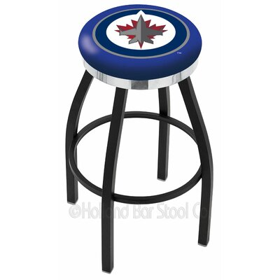 NHL 36 inch Swivel Bar Stool NHL Team: Winnipeg Jets