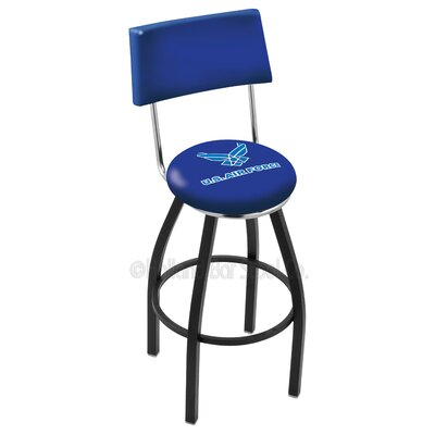 US Armed Forces 30 Swivel Bar Stool Base Finish: Black Wrinkle, Branch: Air Force