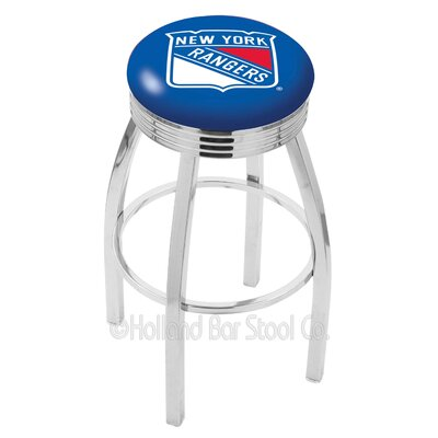 NHL 25 Swivel Bar Stool NHL Team: New York Rangers