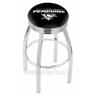 NHL 25 Swivel Bar Stool NHL Team: Pittsburgh Penguins