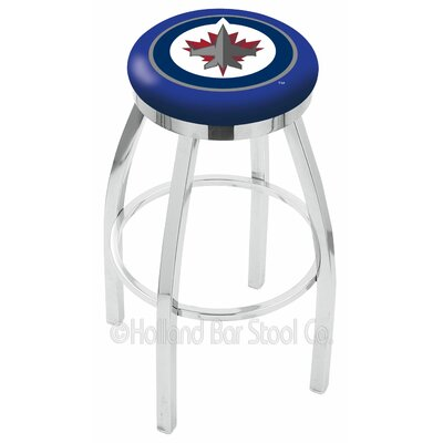 NHL 30 inch Swivel Bar Stool NHL Team: Winnipeg Jets
