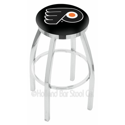 Philadelphia Flyers Bar Stool W/black Background-l8c2c - L8c2c30phifly-b - Chairs Table Nhl L8C2C30PHIFLY-B