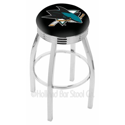 NHL 25 Swivel Bar Stool NHL Team: San Jose Sharks