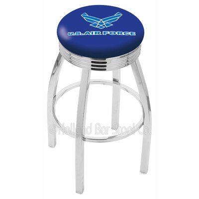 US Armed Forces 30 Swivel Bar Stool Branch: Air Force