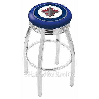 NHL 25 Swivel Bar Stool NHL Team: Winnipeg Jets