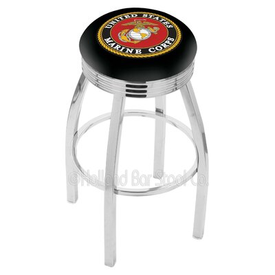 US Armed Forces 25 Swivel Bar Stool Branch: Marines