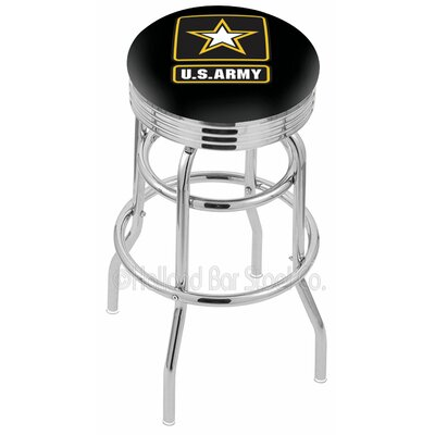 US Armed Forces 30 Swivel Bar Stool Branch: Army