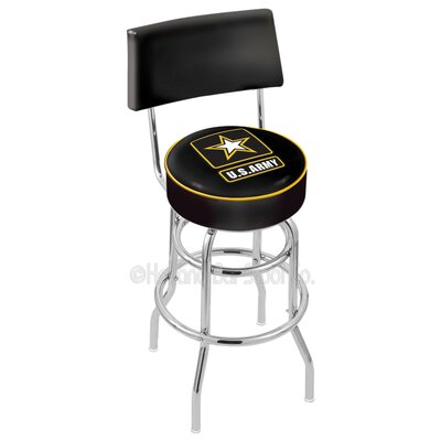 US Armed Forces 25 Swivel Bar Stool Branch: Army