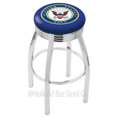 US Armed Forces 25 Swivel Bar Stool Branch: Navy