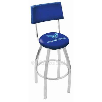 US Armed Forces 30 Swivel Bar Stool Branch: Air Force, Base Color: Chrome