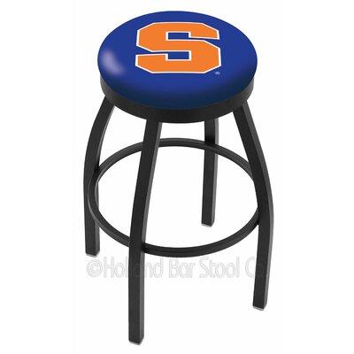 "Holland Bar Stool NCAA 30"" Swivel Bar Stool with Cushion - Ring Finish: Black Wrinkle, NCAA Team: Syracuse University at Sears.com"