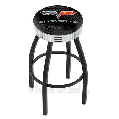 Corvette - C6 30 Swivel Bar Stool Base Finish: Black Wrinkle