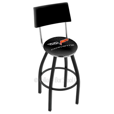 Corvette - C6 25 Swivel Bar Stool Base Finish: Black Wrinkle
