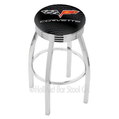 Corvette - C6 30 Swivel Bar Stool Base Finish: Chrome