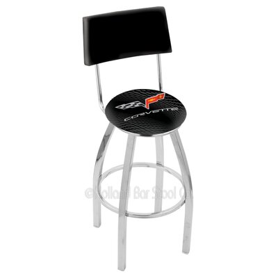 Corvette - C6 25 Swivel Bar Stool Base Finish: Chrome