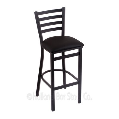 Jackie 25 Bar Stool Upholstery: Black Vinyl