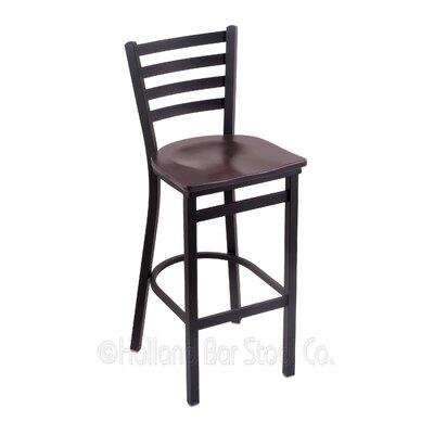Jackie 30 Bar Stool Upholstery: Dark Cherry Maple