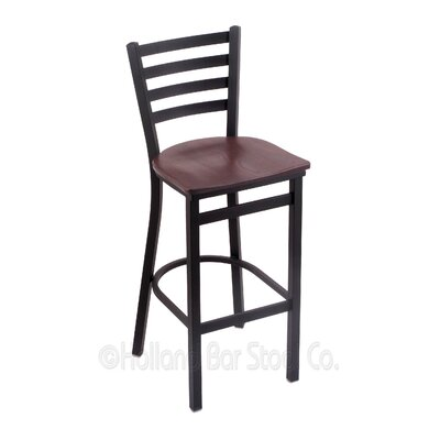 Jackie 25 Bar Stool Upholstery: Dark Cherry Oak