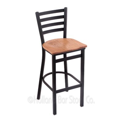 Jackie 30 Bar Stool Upholstery: Medium Oak