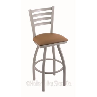 Jackie 36 Swivel Bar Stool Finish: Anodized Nickel, Upholstery: Allante Beechwood