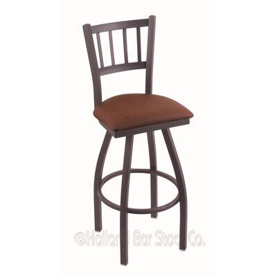 Contessa 36 Swivel Bar Stool Finish: Pewter, Upholstery: Rein Adobe